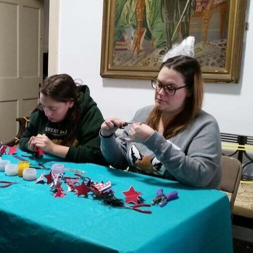 Jersey Blue Chapter DAR Ornament making